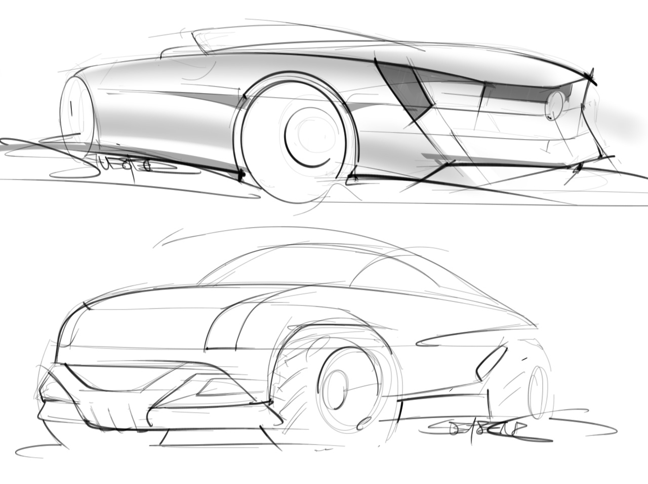 Still Drawing At Least One Car Sketch A Day
