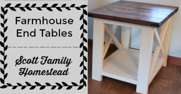 farmhouse end tables