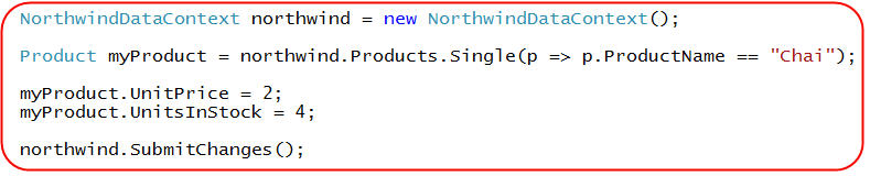 LINQ to SQL ( Updating our Database) | T  Nayak