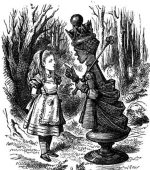The Red Queen tells Alice about running to stay in the same place.