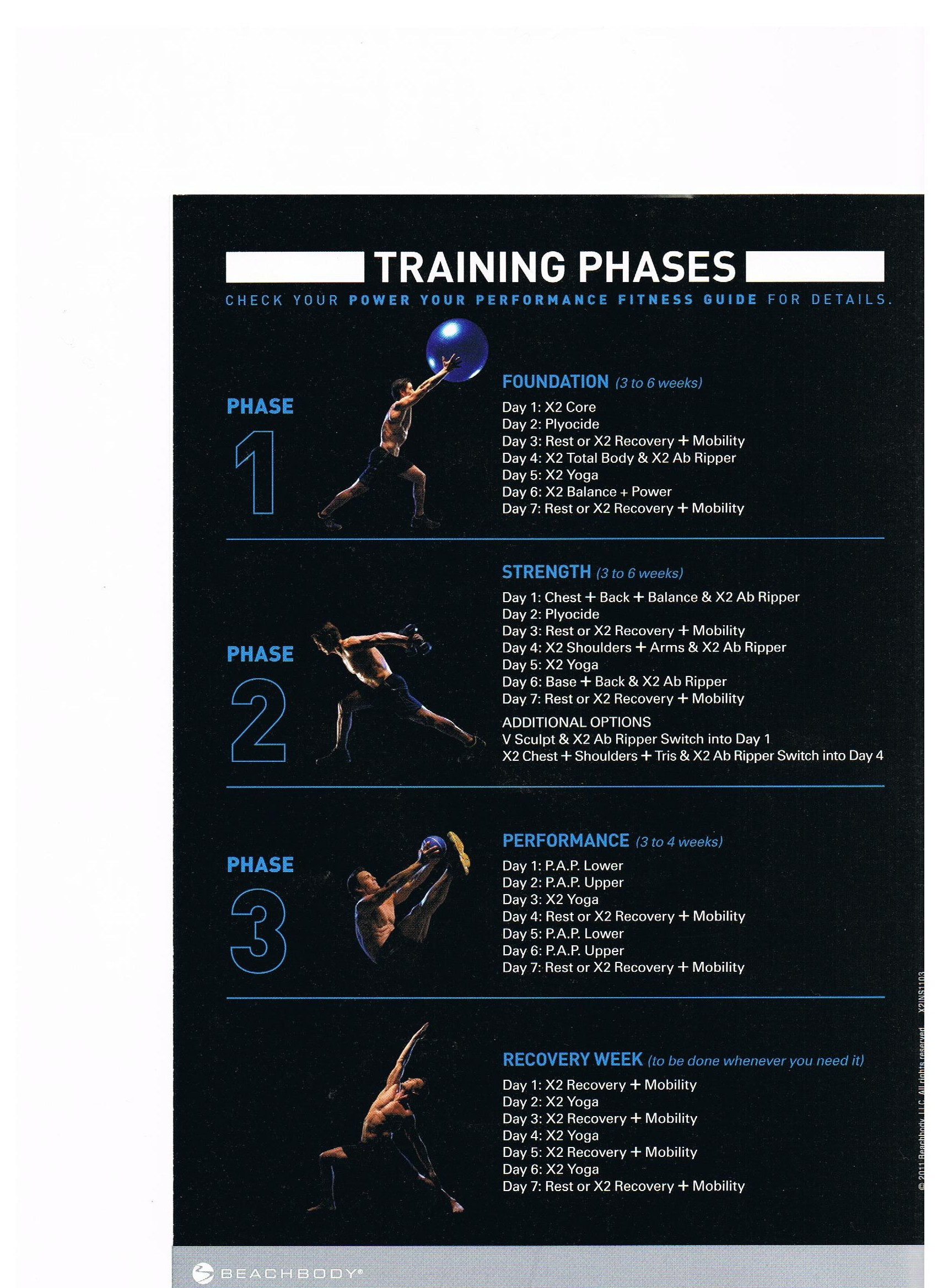 P90x2 Schedule Elite Athlete Training