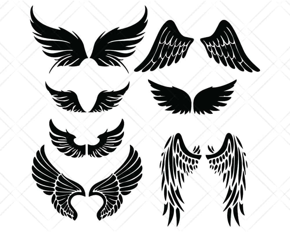 Download Angel Wings SVG Cut Files | Scotties Designs