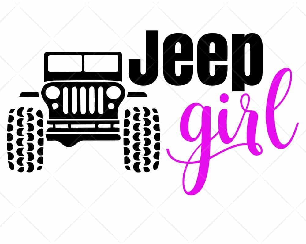 Download Jeep Girl SVG Cut Files | Scotties Designs