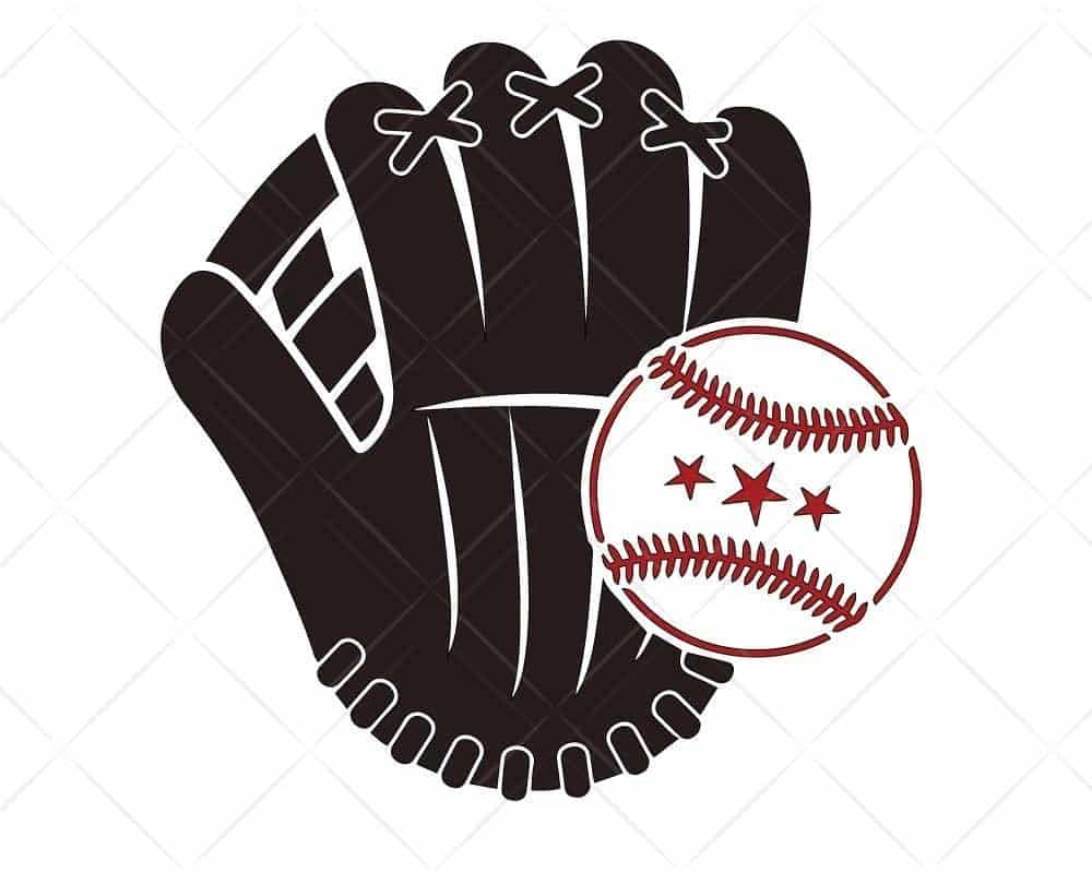 Download Baseball Glove 1 SVG Cut Files for Cricut and Silhouette ...