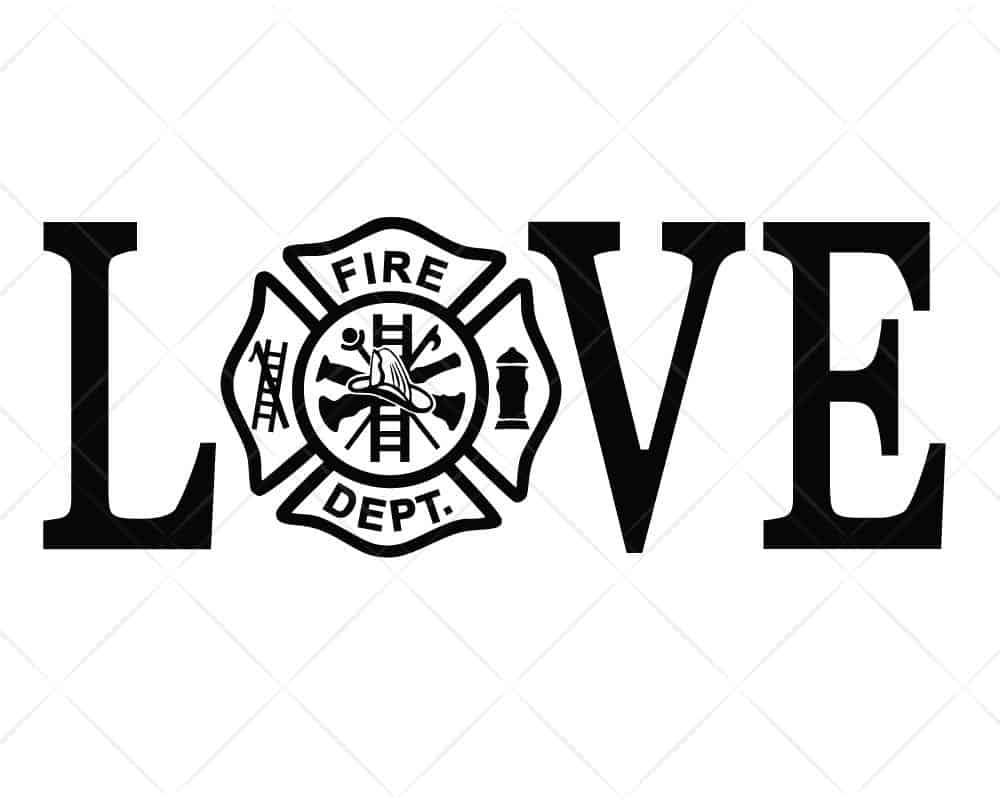 Download LOVE Firefighters SVG Cut Files for Cricut and Silhouette ...