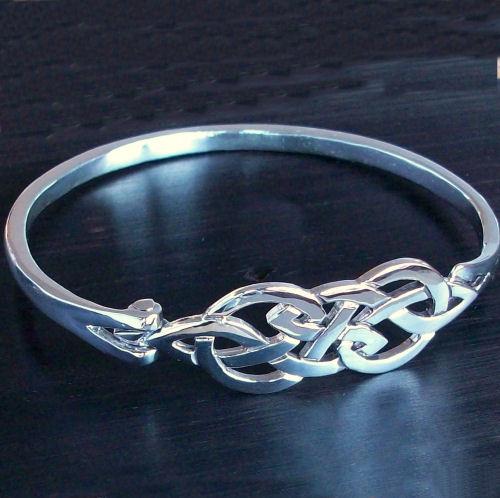 Askernish Silver Bangle Scottish Celtic Jewelry
