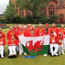 Team Wales with flag