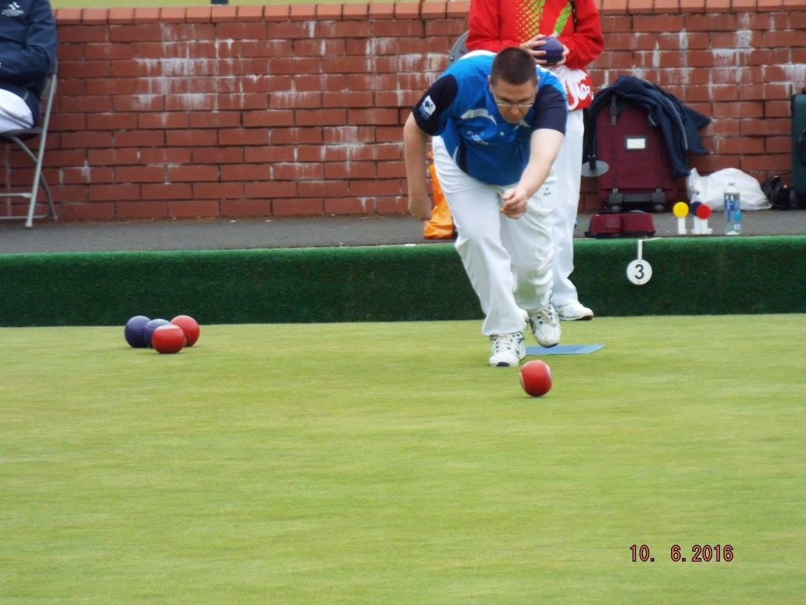 Garry Brown bowling