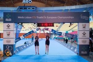 Triathlete Alison Patrick and Guide