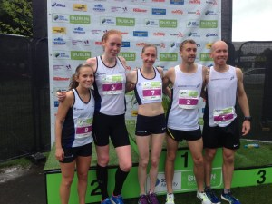 Derek Rae with Scottish Athletics Teammates
