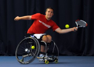 Gordon Reid training at Stirling University