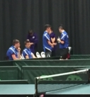 Boys getting ready for second round of table tennis matches