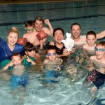 Deaf swimmers in the pool