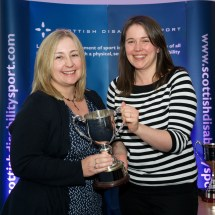 Anna Tizzard receiving the Glasgow Trophy