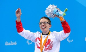 Scott Quin with his silver medal at the Rio Paralympic Games
