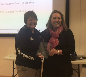 Claire Morrison with Heather Lowden and award