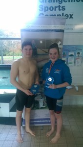 Best boy Lewis McCulloch and best girl Beth Johnston with their medals