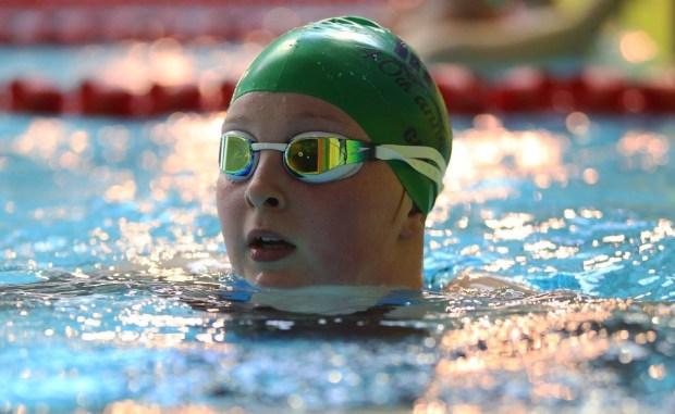 Cara Smyth in the pool