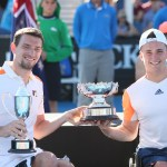 Gordon Reid and Joachim Gerard with trophy