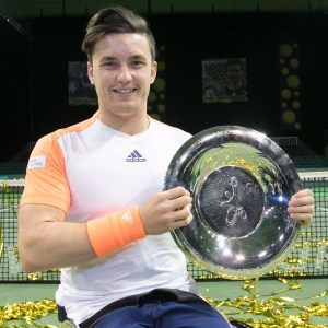 Gordon Reid with trophy