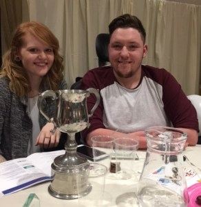 Kieran Steer and guest at the awards