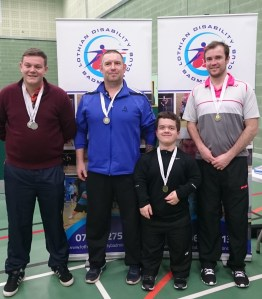 L to R: David Purdie & Colin Leslie (Silver Medals), Bobby Laing & Alan Oliver (Gold Medals)