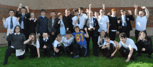 Group photo of Woodmill High School pupils