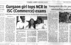 Media Coverage - Nidhi Singh NCR Topper