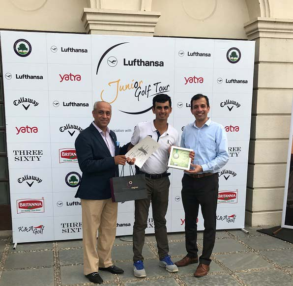 Scottish High School Student & Special Olympics Athlete, Ranveer Singh Saini made history by being the first Special Needs Golfer in India to win a prize at the Lufthansa Open Tournament (1)