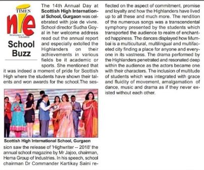 School Annual Day Coverage Report by Times Of India 2018_LI (1)