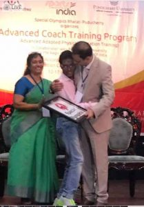 Dr Kartikay Saini motivating Athletes during Special Olympics Event Puducherry