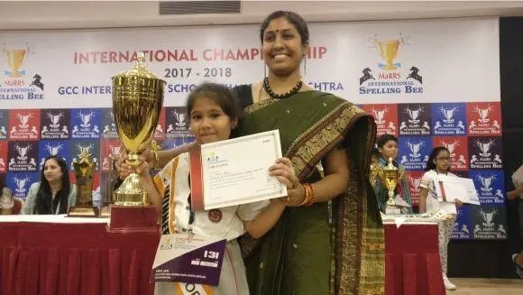 Young Highlander- Emya Jain of grade 4 has won the First Prize - Spell Bee (1)