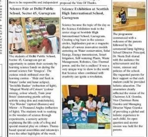 Science exhibition news in times NIE HIndustan Times