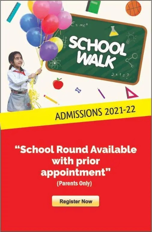 School Walk admissions for session 2021-22