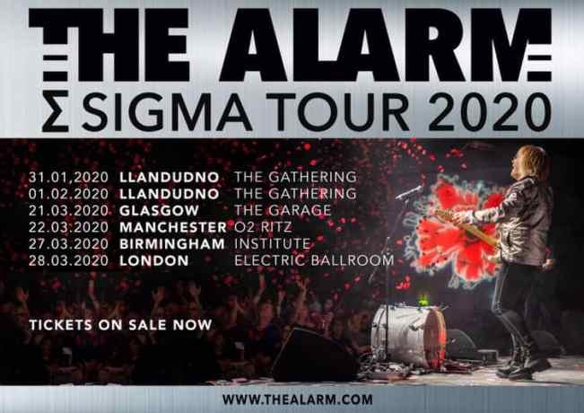 The Alarm Tour UK tour 2020 poster