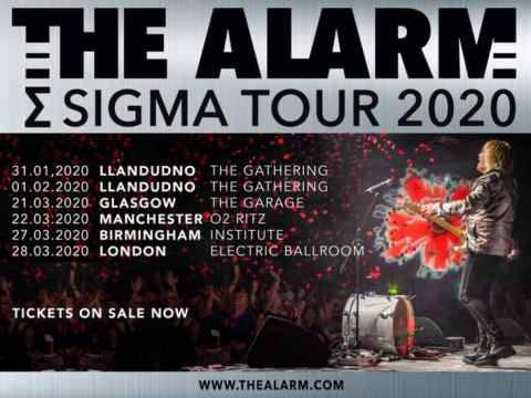 The Alarm Tour UK tour 2020 poster