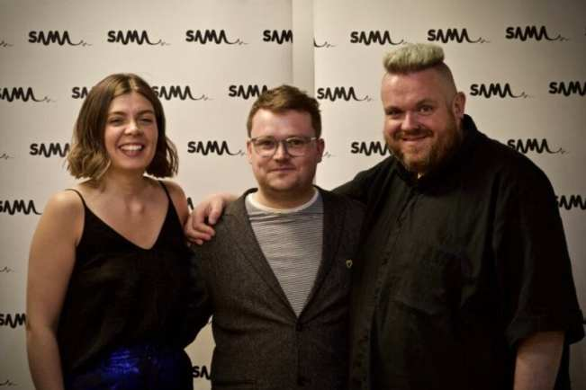 HOSTS JIM GELLATLY AND LEYLA JOSEPHINE WITH SAMA FOUNDER RICHY MUIRHEAD