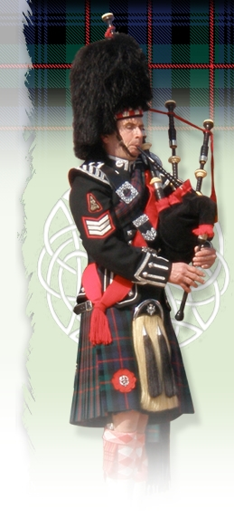 Bagpiper Cliff Hall