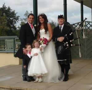 south wales bagpiper hire