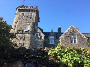 Achnacloich House in Argyll, Scotland. A Scottish Baronial mansion built in the late 19th century.