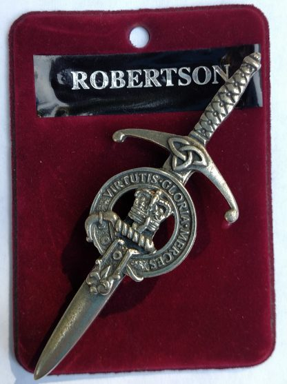 Sample Clan Kilt Pin made of pewter imported directly from Scotland