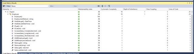 Visual Studio - Code Analysis Output