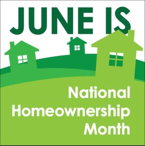 June is national homeownership month image