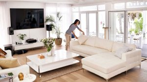 Woman staging home image
