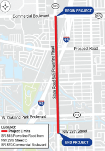 Map of MPO Plan for Powerline Road