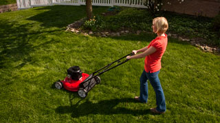 mow lawn - mowing