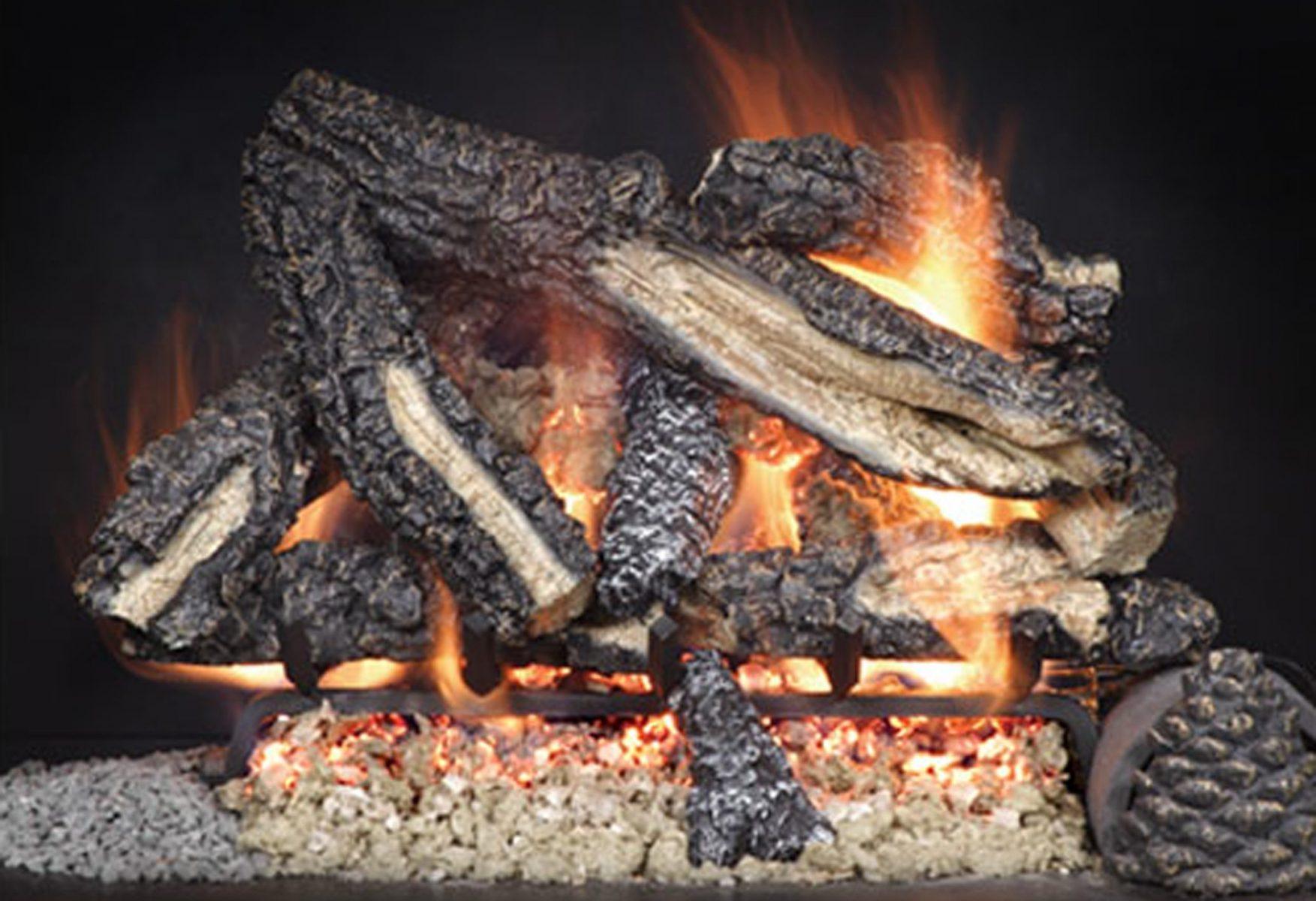 CampfireVentedGasLogSet  Scotts Fireplace Products