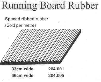 Running Board Rubber