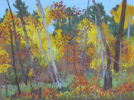 fall color, Boulder Mountain, Utah, pastel, scotty Mitchell