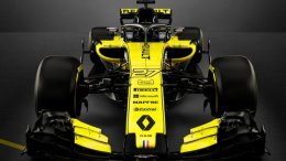 A front shot of the new Renault RS 18 F1 car for 2018, if looks are anything to go by, this looks threatening enough to upset the grid this year ?
